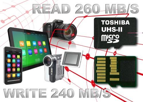 Le micro sd più veloci sul mercato sono di Toshiba con tecnologia UHS-II