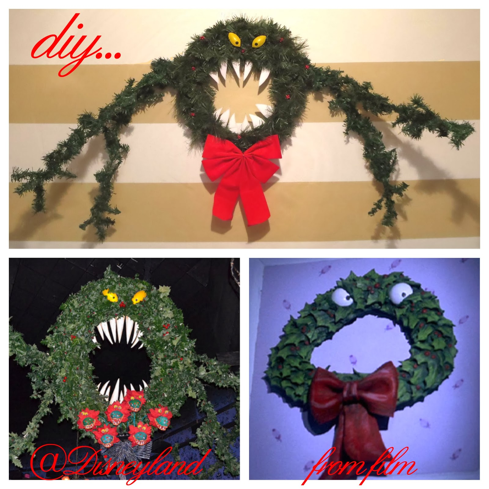 diy nightmare before christmas halloween props nightmare before christmas man eating wreath tutorial