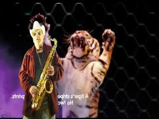 La magia del circo con saxo tenor
