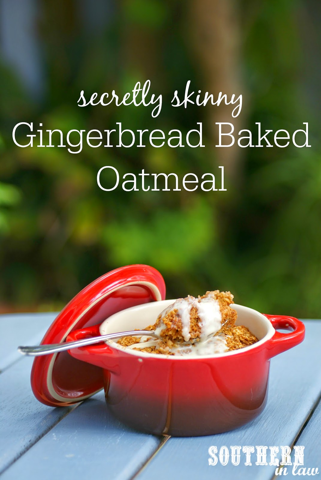 Gluten Free Gingerbread Baked Oatmeal Recipe - low fat, low sugar, gluten free, vegan, healthy, single serve, single serving, egg free