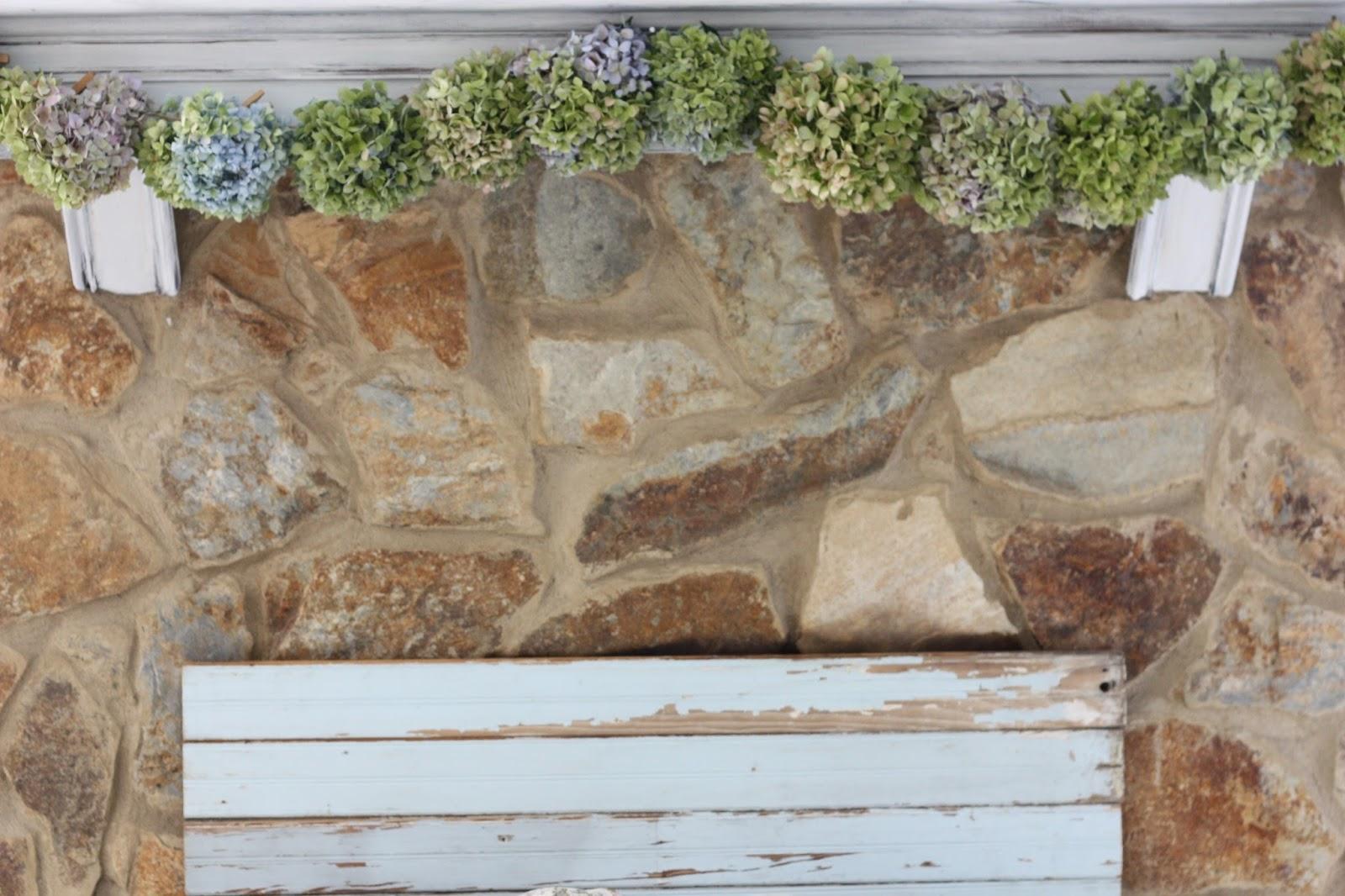 erin u0027s art and gardens chalk painted 1970 u0027s stone fireplace