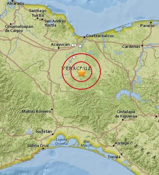 Magnitude 4.4 Earthquake of Hidalgotitlan, Mexico 2015-04-06