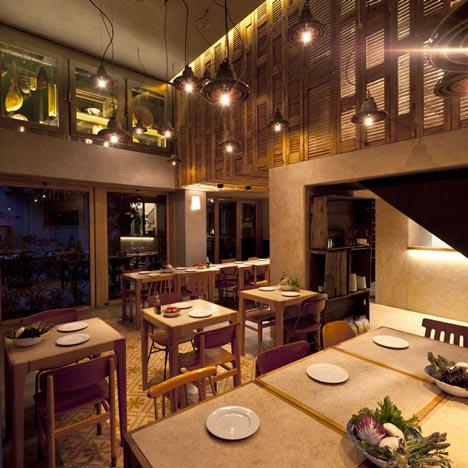 ayd nlatma ve dekor d nyas ndan geli meler k studio 39 dan atina 39 da capanna restaurant ayd nlatma. Black Bedroom Furniture Sets. Home Design Ideas