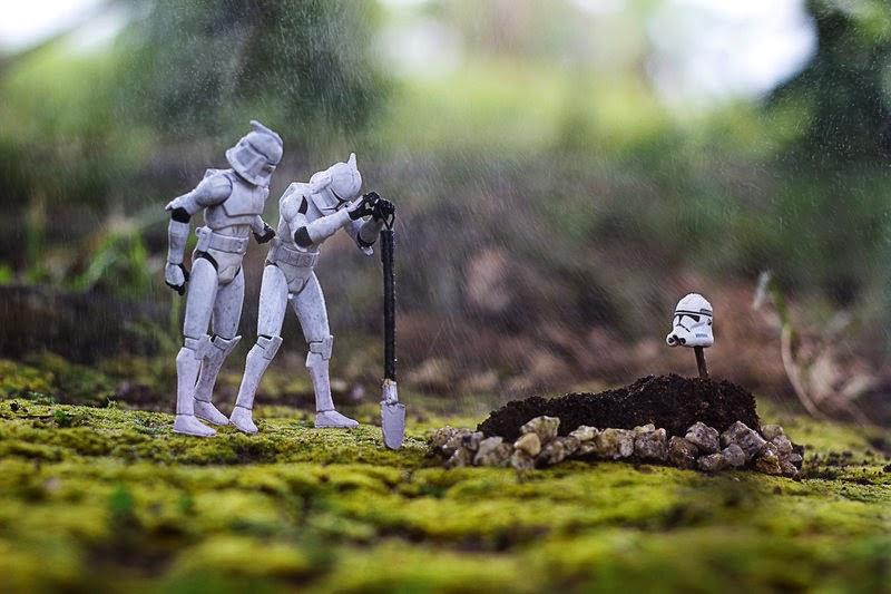 Fallen Stormtrooper death Star Wars funeral clone burial