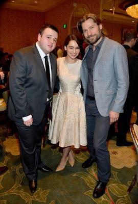 John Bradley, Emilia Clarke y Nikolaj Coster-Waldau premios AFI - Juego de Tronos en los siete reinos