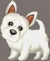 ペット犬イラスト|ウェスティのイラスト無料ダウンロード