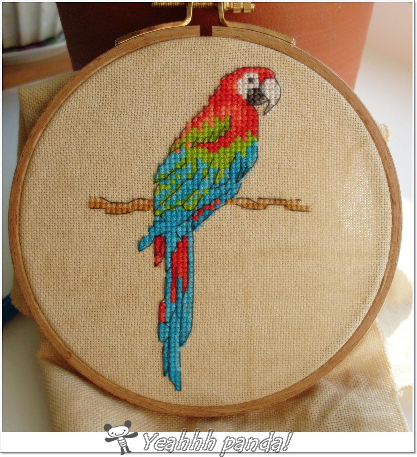 Вышивка крестом волнистые попугайчики