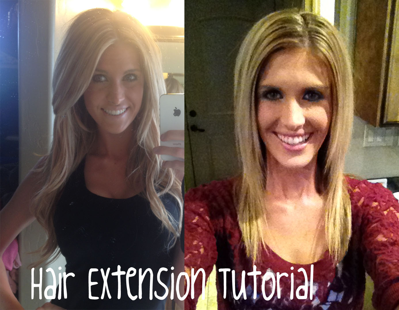 Hey Mcki My Hair Extensions Tutorial Under 60