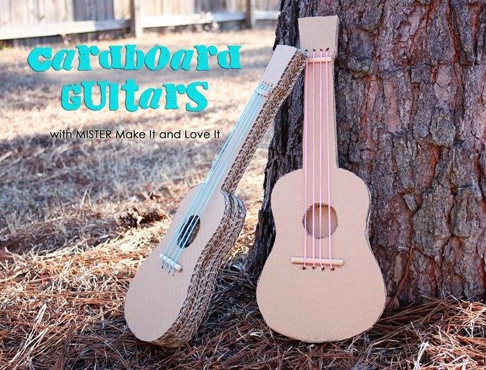Гитара из картона и бумаги