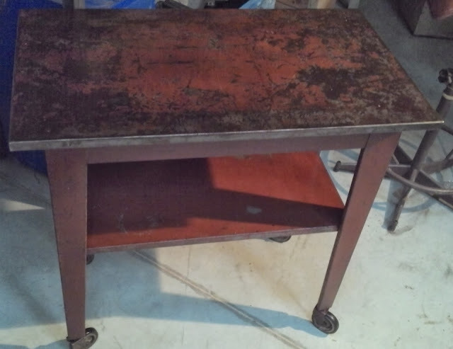 Tabli Table D 39 Atelier T Le Garage Ancien M Tal Bross Acier Design