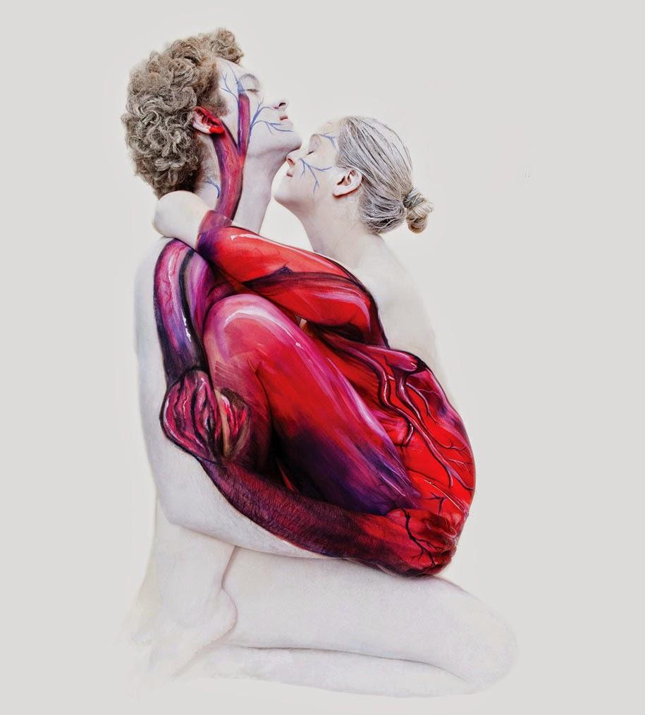 Lukisan Tubuh Manusia Merubah Orang Menjadi Hewan Dan Organ
