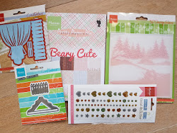 Challenge 190 Maak een kerstkaart met Marianne design producten