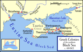 Античные колонии в Северном Причерноморье. карта