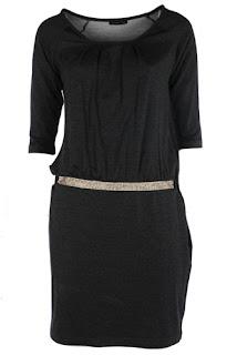 afrodit siyah kısa elbise modeli