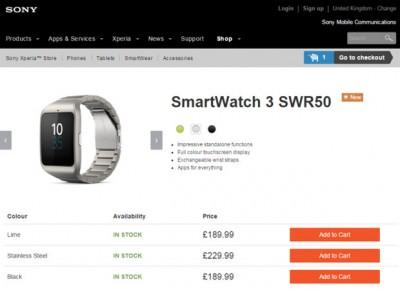 Sony SmartWatch 3 Versi Stainless Steel Resmi Dirilis