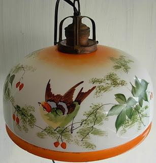 Lampu Porcelain Lukis Burung