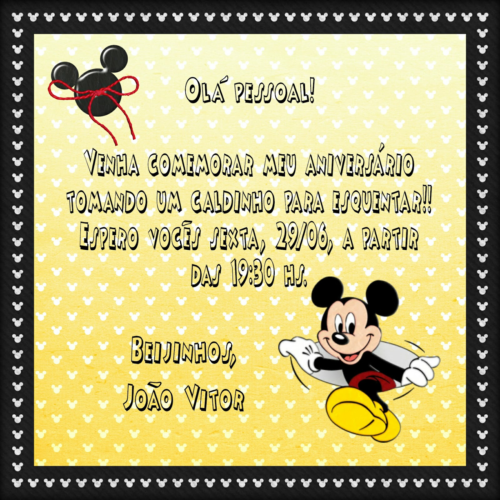 Anivers  Rio Do Mickey Mouse