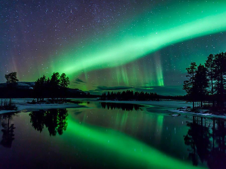 Aurora over Arjeplog    Arjeplog, Lapland, Sweden  Image Credit & Copyright: Maria Sundqvist