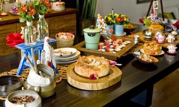 mesa chique de festa junina