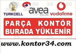 Online Turkcell Avea Vodafone Parça Tam Kontör Tl