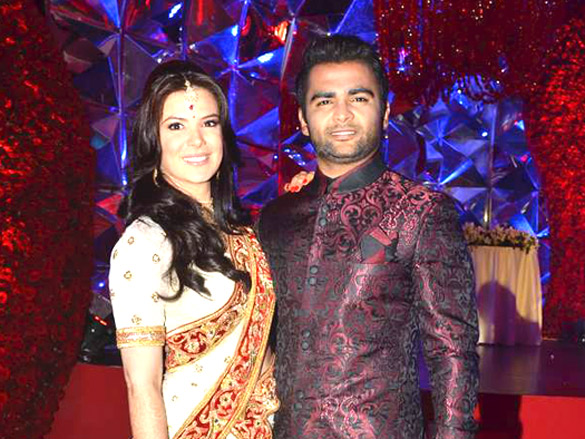 Sachiin Joshi &amp; Urvashi Sharma1 - Sachiin Joshi &amp; Urvashi Sharma&#39;s wedding reception Pics