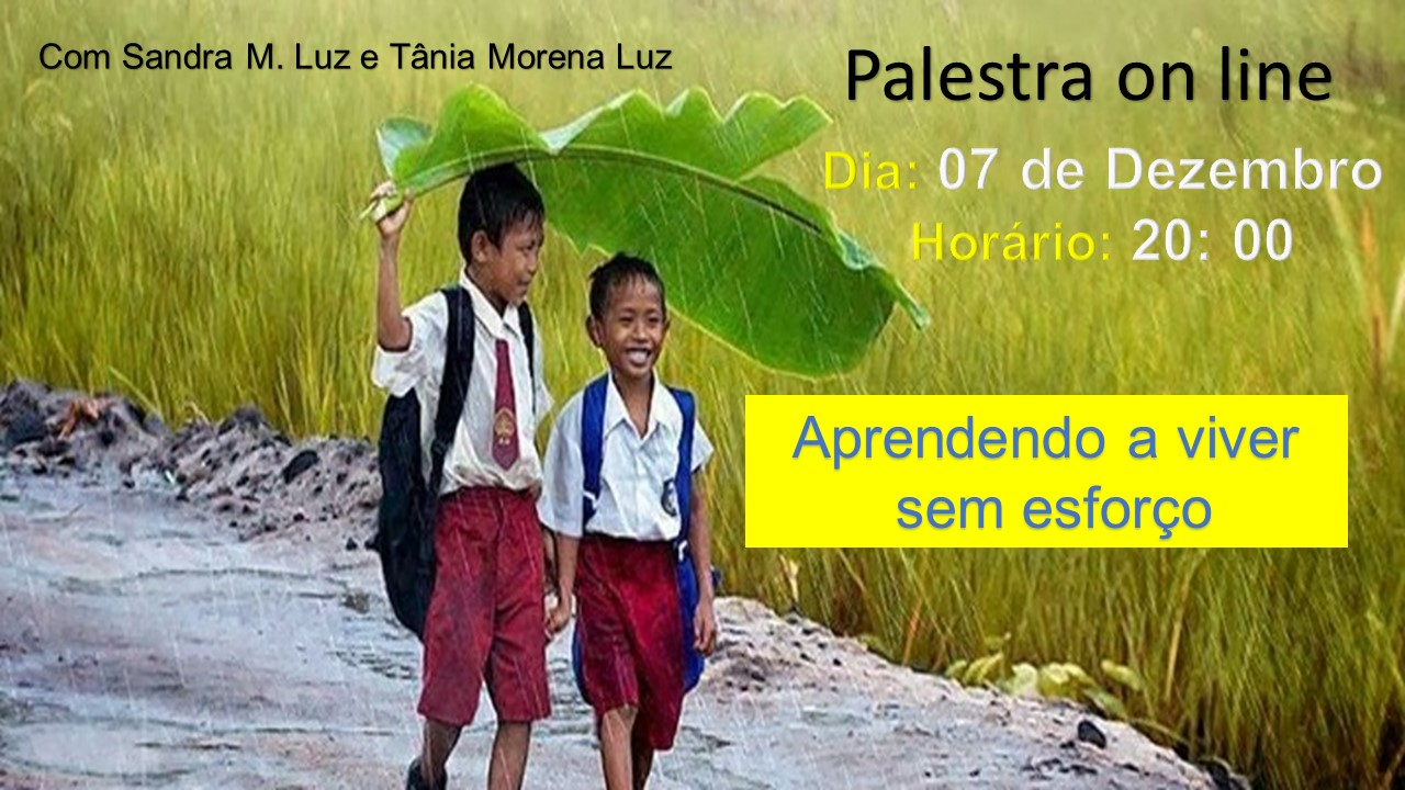 PRÓXIMA PALESTRA ON LINE - 07 DE DEZEMBRO