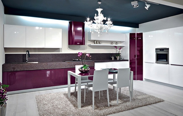 Decoracion Italiana Moderna ~ Cocinas color morado italianas modernas  Colores en Casa