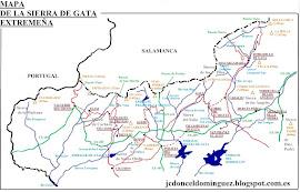 Mapas de la Sierra de Gata (elaboración propia)