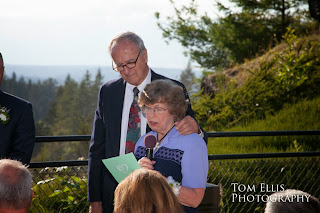 Thomas's grandparents share a reading at his wedding - Kent Buttars, A Heavenly Ceremony