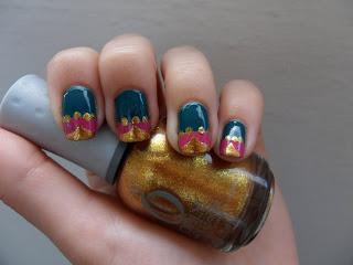 moroccan jewels  nail art ideas