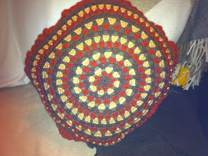 Circle Granny Stripe Cushion