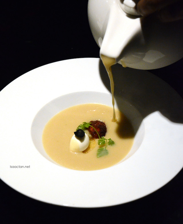 Cream Of Topin Ambour with Truffle Oil and Bocconcini Cheese - RM38