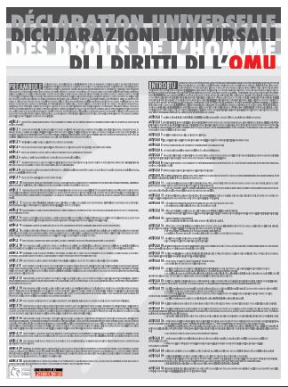 70 ans de la DUDH - Affiche bilingue réalisée par la section