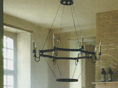 Chandelier Detail, holiday prep, image via Côte Maison, edited by lb for linenandlavender.net
