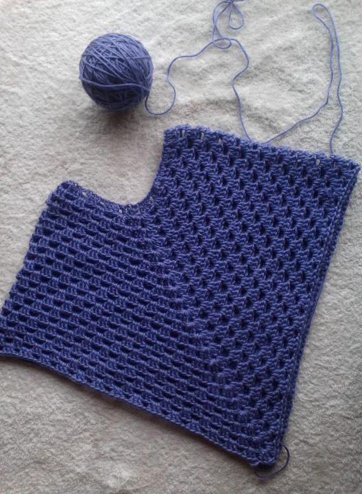 Patrón: Poncho en una pieza facilísimo y rápisímo de tejer ...