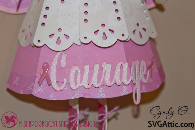 "Close up of the banner ""Courage"""