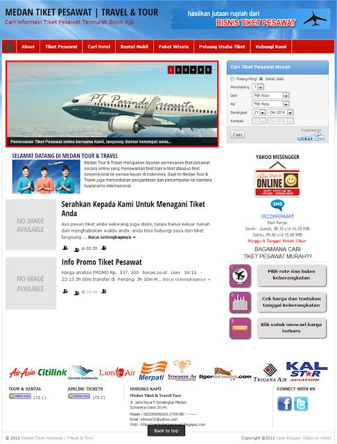 jasa buat web murah tiket pesawat online, jasa buat web murah