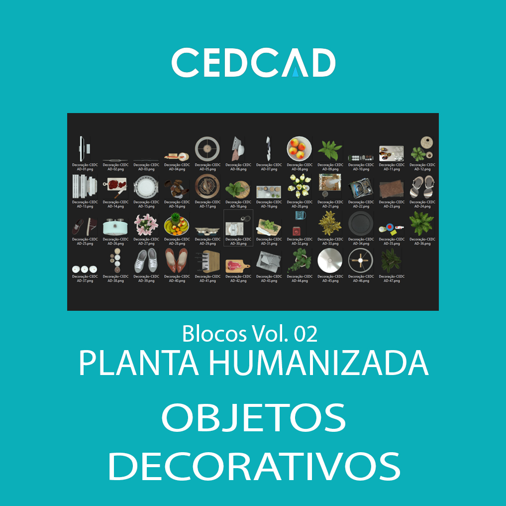 Blocos Para Planta Humanizada Vol. 2 – Objetos Decorativos