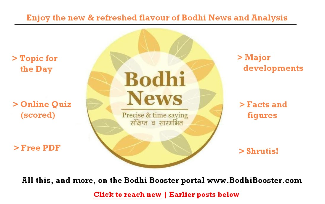 LATEST BODHI NEWS