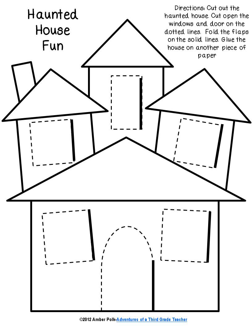 next the students were given the haunted house template