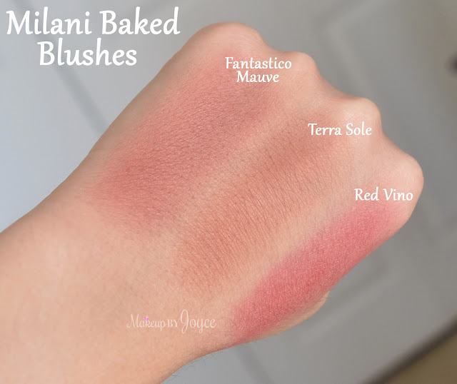 Milani Terra Sole vs Fantastico Mauve Swatches