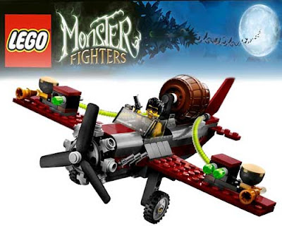 Sky acrobatic airplane flight of adventure illuminated 2012 toy monster Lego ghost train Halloween