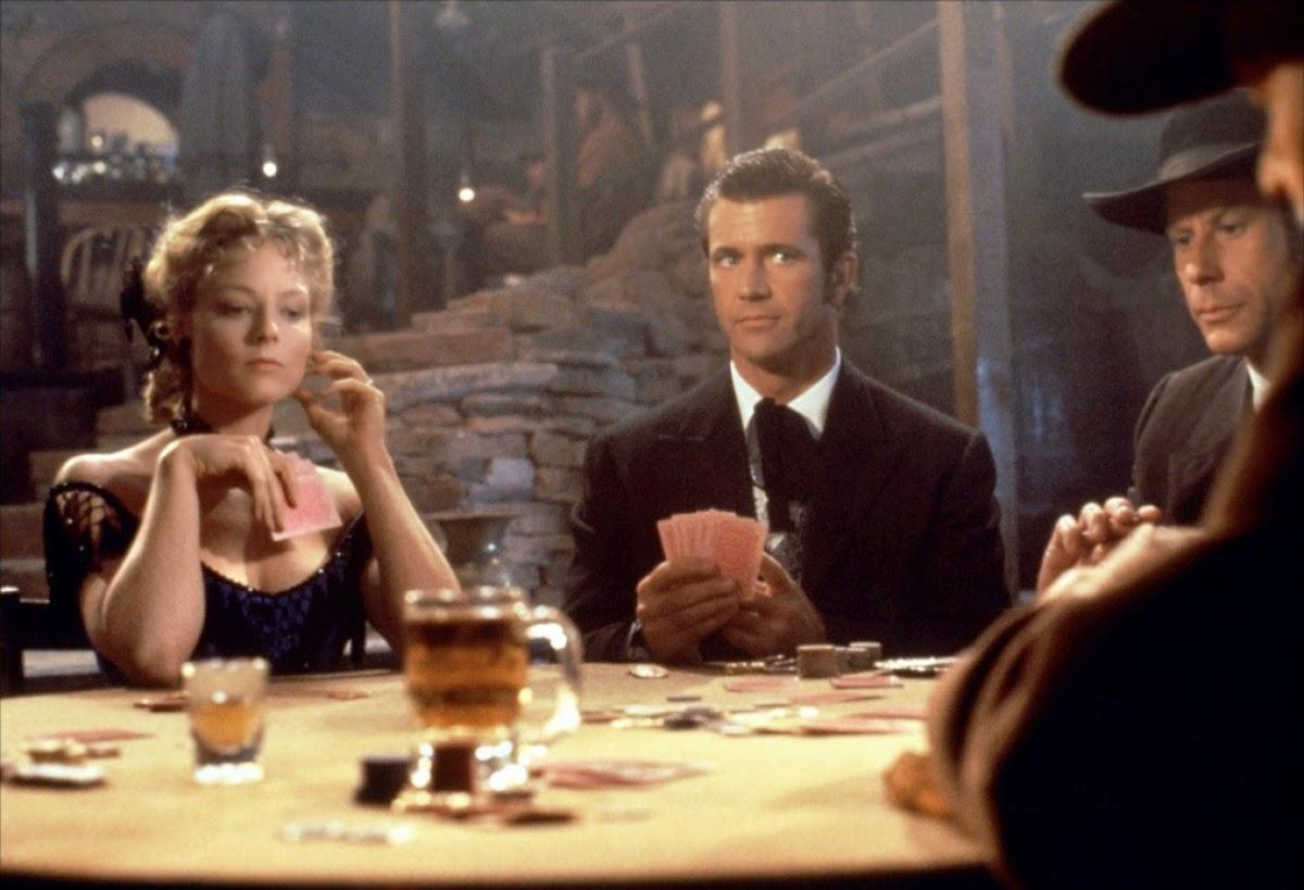 Jodie Foster et Mel Gibson dans Maverick, de Richard Donner (1994)