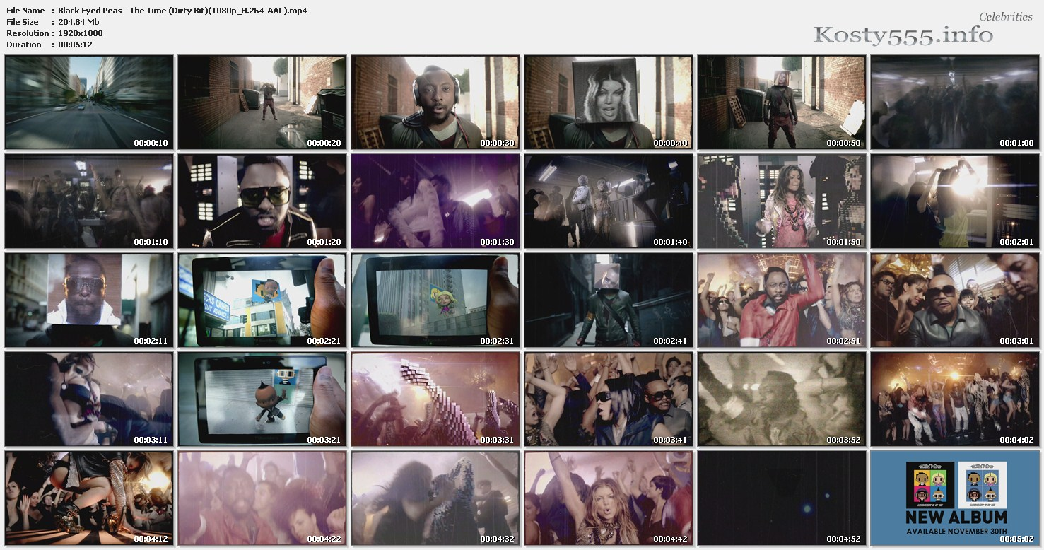 Black Eyed Peas - The Time (Dirty Bit) 1080p