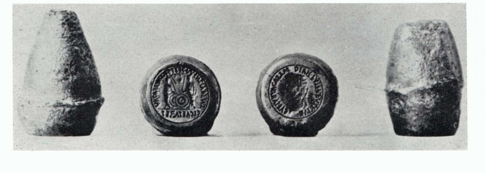 Pareja de cuños para denarios de Plautila Cu%C3%B1os+de+Augusto