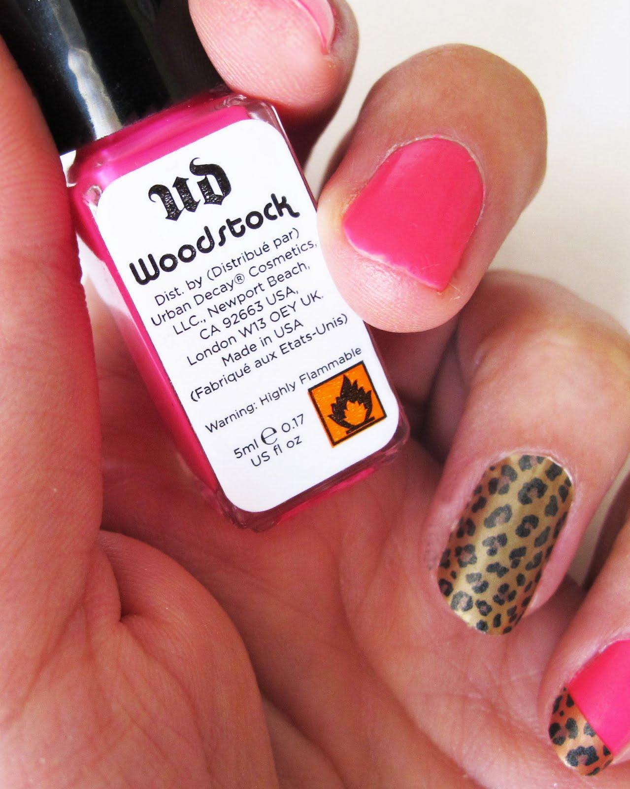 kandeej.com: Hot Summer Nails: hot pink, leopard & nail stickers!
