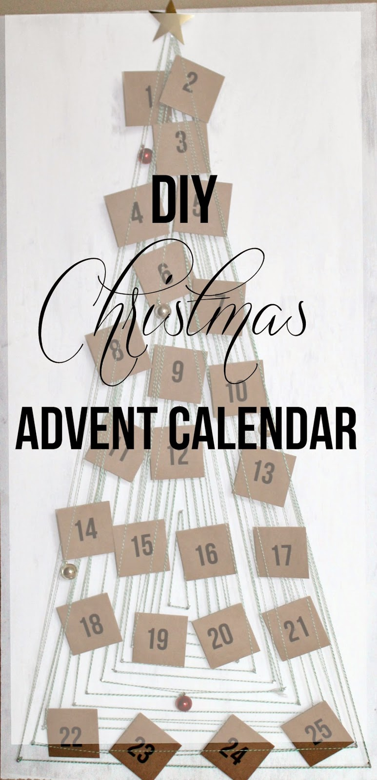 DIY Christmas Advent Calendar | Bubbles and Gold