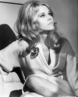 Celebrity Jane Fonda black and white pictures