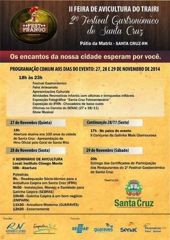 EVENTOS EM DESTAQUE - SANTA CRUZ