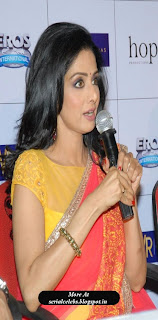 Sridevi in yellow saree blouse